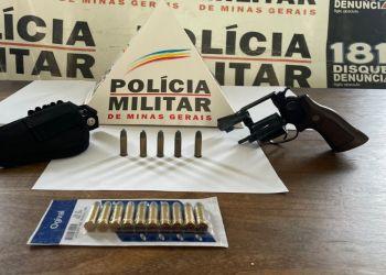 PM apreende mais uma arma de fogo e munições em Arcos